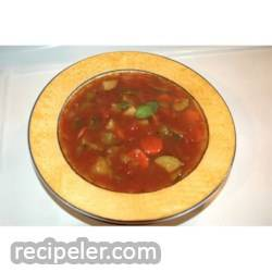 Quick talian Vegetable Soup