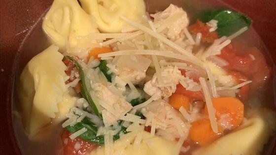 quick tortellini rotisserie chicken soup