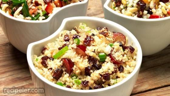 Quinoa, Grape, and Prune Salad