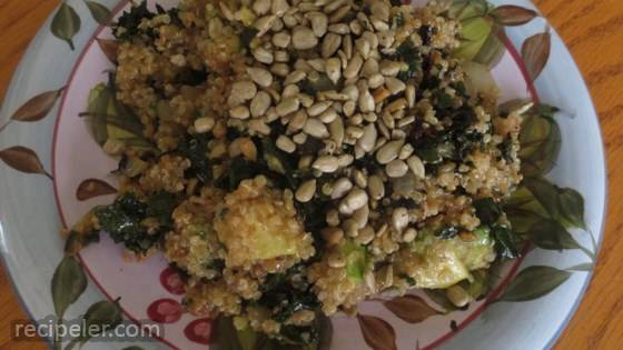 Quinoa, Kale, and Avocado Salad with Lemon Dijon Vinaigrette Dressing