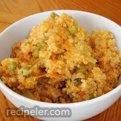 Quinoa with Peas and Parmesan