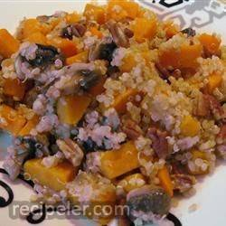 Quinoa with Sweet Potato and Mushrooms