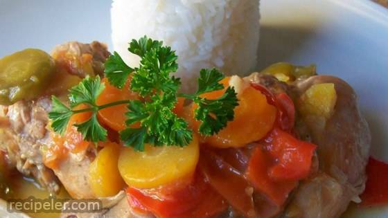 Rabbit Stew with Coconut Cream