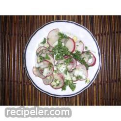 Radish Salad With Parsley & Chopped Eggs