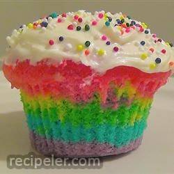 rainbow clown cake