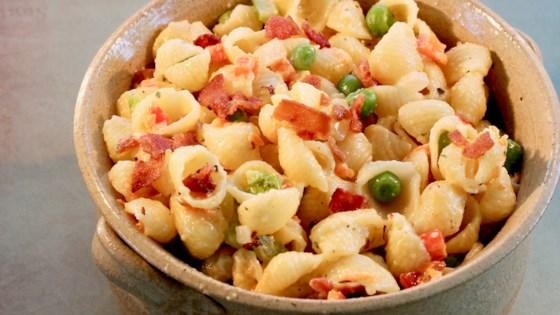 ranch pasta salad with peas