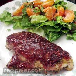 Raspberry-Glazed Rosemary Chicken