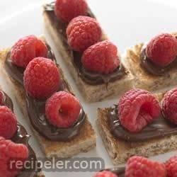 Raspberry Hazelnut Truffle Toast Bites