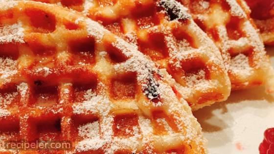 Raspberry Lemon Cream Cheese Waffles