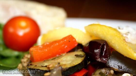 Ratatouille with Polenta Rounds