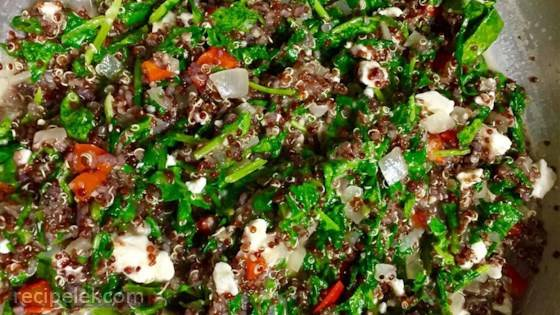 Red Quinoa and Tuscan Kale