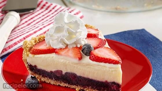 Red, White and Blue ce Cream Pie