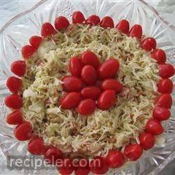 Red, White and Blue Slaw Salad