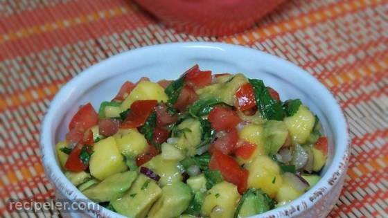 Refreshing Avocado, Tomato, and Mango Salsa