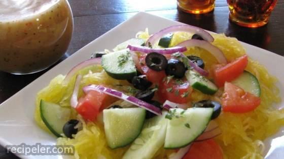 Refreshing Spaghetti Squash And Cucumber Salad