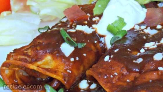 Refried Bean and Cheese Enchiladas