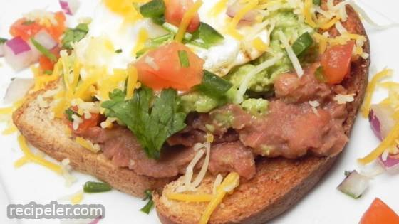 Refried Bean Avocado Toast
