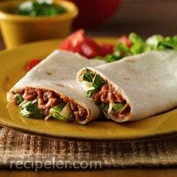Refried Bean Roll-Ups--Lighter Recipe