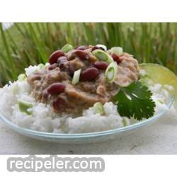 Restaurant Style Red Beans and Rice