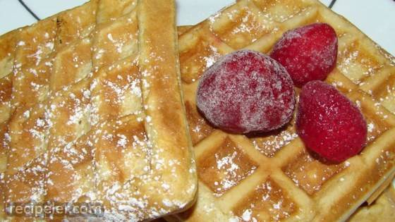 Rich Danish Waffles
