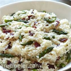 Risotto with Asparagus and Bison Bacon