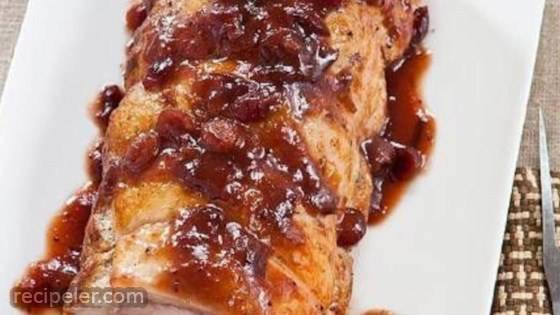 Roast Pork with Cranberry Glaze