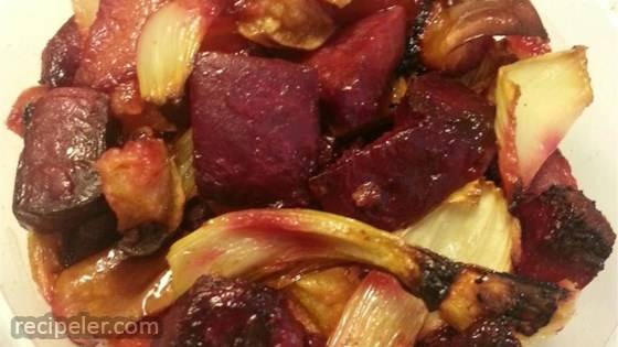 Roasted Beets, Apples, and Fennel