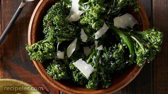 Roasted Broccolini with Garlic and Parmesan
