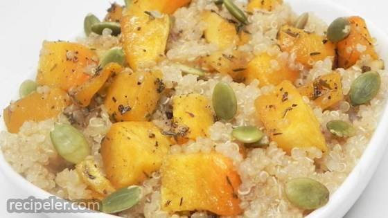 Roasted Butternut Squash Quinoa with Pumpkin Seeds