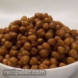 Roasted Spicy Garbanzo Beans