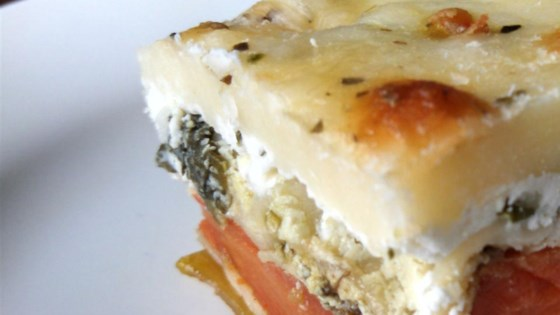 roasted vegetable lasagna with pesto cream sauce