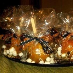 rocky road caramel apples