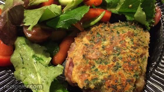 Rosemary Pesto-Crusted Lamb Steaks