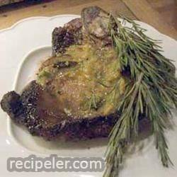Rosemary Steaks with Papaya Butter