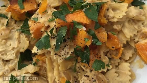 sa's Butternut Squash Vegan Alfredo Pasta