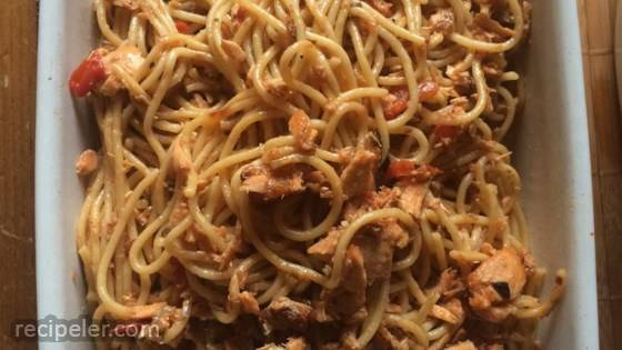 Salmon Pasta Pomodoro