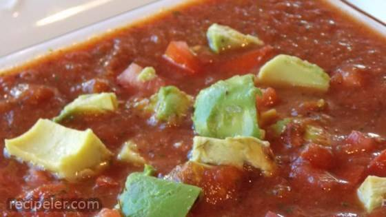 Salsa with Avocado