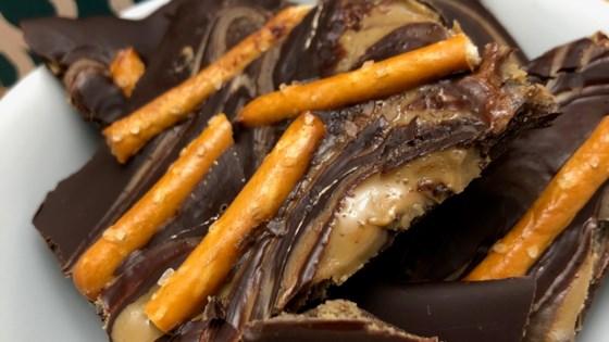 salted chocolate-sunflower butter bark