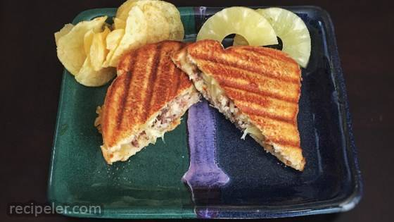 Sardines and Pineapple Sandwich Toast