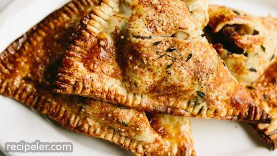 Sausage and Apple Pie in a Parmesan Thyme Crust