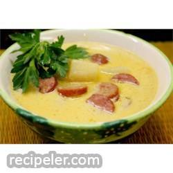 Sausage 'n Stout Cheese Soup