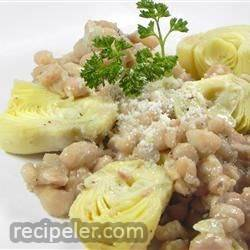 Sauteed Navy Beans and Artichokes