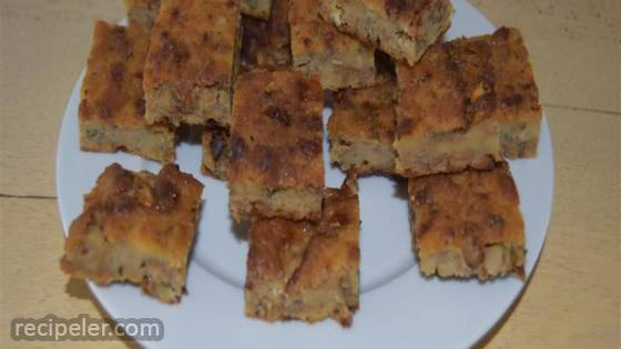 Savory Stilton and Walnut Bread Pudding