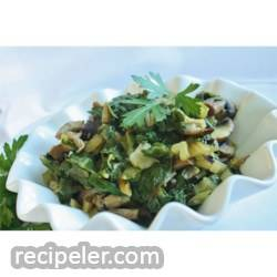 Savory Swiss Chard with Portobellos
