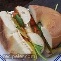 school lunch bagel sandwich