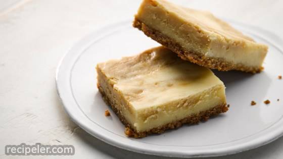Sea Salt Caramel Swirl Cheesecake Bars