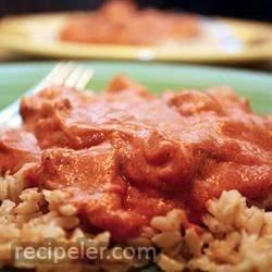 Seitan Makhani (Vegan-Style ndian Butter Chicken)