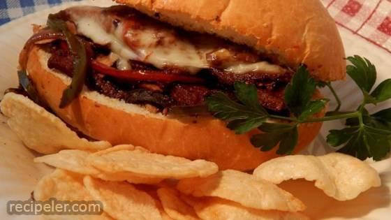 Seitan Philly Cheese Steak Sandwiches