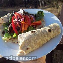 sesame lime steak wraps