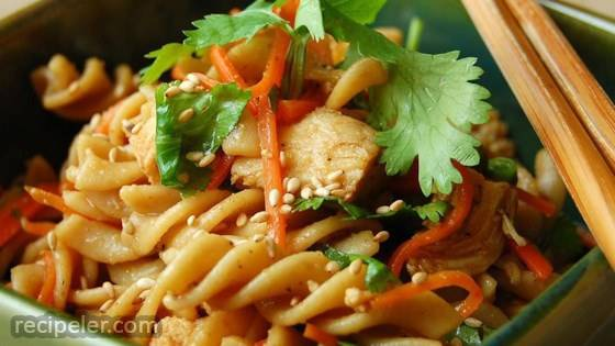 Sesame Pasta Chicken Salad